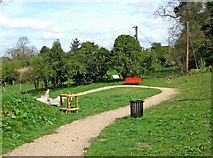 SO8480 : The zig-zag path to the Canalside Terrace, Cookley Playing Fields, Cookley by P L Chadwick