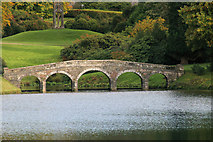 ST7733 : The stone bridge at Stourhead by Stuart Logan