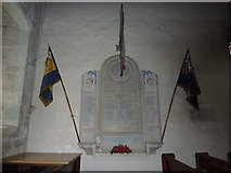 TQ1711 : St. Andrew's, Steyning: war memorial by Basher Eyre
