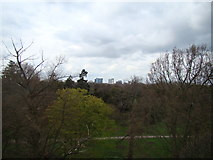 TQ1876 : View of the GlaxoSmithKline building from the Xstrata Treetop Walkway by Robert Lamb