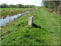 TQ0524 : Milepost on the Wey and Arun Canal by Dave Spicer