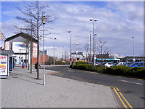 NS5267 : Bus stops at Braehead by Thomas Nugent