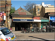 TQ2673 : Entrance to Earlsfield station by Stephen Craven