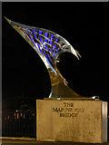 SD3317 : Marine Way Bridge Sculpture by David Dixon