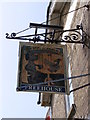 TM3255 : The Dog & Duck Public House sign by Adrian Cable