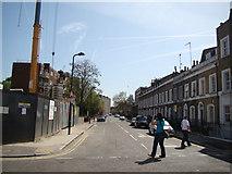 TQ3283 : View down Eagle Wharf Road by Robert Lamb