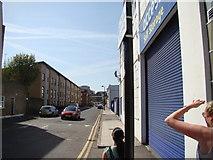 TQ3283 : View down Eagle Wharf Road #2 by Robert Lamb