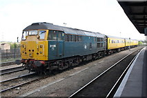 SU5290 : Track measurement train stabled at Didcot Station by Roger Templeman