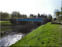 SJ7993 : River Mersey, Barfoot Bridge by David Dixon