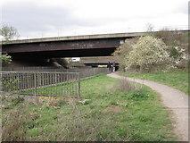 SU4726 : Footpath under the M3 by Caroline Maynard