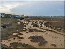 TQ2104 : Mudflats, River Adur, Shoreham by Paul Gillett
