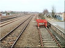 SU1585 : Railway lines NE of Swindon station by Jaggery