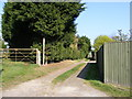 TM3463 : Footpath to Grove Farm, B1119 & Deadman's Lane by Adrian Cable