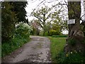 TQ0217 : Footpath through garden at end of Kings Lane by Shazz