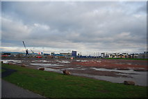 NT2677 : Overflow car park? Ocean Terminal Shopping Centre. by N Chadwick