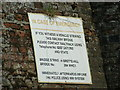 TG2436 : Bretts Hill Railway Bridge sign, Thorpe Road, Southrepps by Adrian Cable