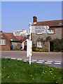 TG2536 : Southrepps roadsign by Adrian Cable