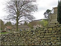 SE7290 : Dry stone wall, Lastingham by Pauline E