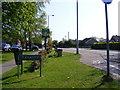 TG2602 : B1332 The Street, Framingham Earl & Framingham Earl Village sign by Adrian Cable