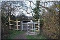 TQ2294 : Kissing gate, Dollis Valley Greenwalk, Totteridge Fields by N Chadwick