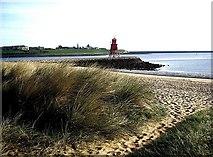 NZ3668 : Herd beach sands by Stanley Howe
