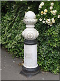 TQ3765 : Bollard at the alleyway between Copse Avenue, BR4 and Links View Road, CR0 by Mike Quinn