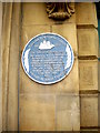 NZ3566 : Blue plaque on former Port Health Authority Building by Stanley Howe