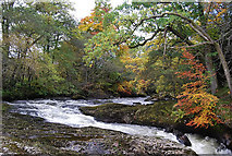NN9328 : Buchanty Spout, River Almond by Glen Breaden