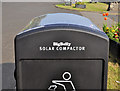D3805 : Solar-powered litter bin, Drain's Bay, Larne by Albert Bridge