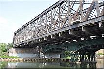 TL1998 : Railway Bridge over the Nene by Ashley Dace