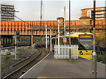 SJ8499 : Metrolink, Victoria Station by David Dixon