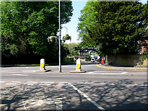 TQ3355 : Caterham: Road junction at the top of Waller Lane by Dr Neil Clifton