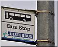 J2358 : Bus stop sign, Hillsborough by Albert Bridge