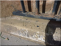 NT6779 : East Lothian Townscape : WD Boundary Stone 7 at Lauderdale House, Dunbar High Street by Richard West