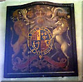 SD4188 : Royal coat of arms, St Anthony's Church, Cartmel Fell by Karl and Ali