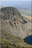 SH7013 : Looking back at Cyfrwy (The Saddle) and Llyn y Gadair by Hugh Chevallier