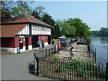 TQ4387 : Boat hire base, Valentines Park by Robin Webster