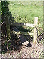 TM3459 : Stile of the footpath to Botany Lane by Adrian Cable