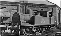 NZ4057 : A 19th century 0-6-0T shunter built in 1949 stands outside Sunderland South Dock Locomotive Depot by Ben Brooksbank