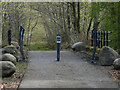 NM9441 : Start of cycle path - Sea Life Centre by The Carlisle Kid