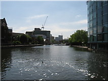 TQ3283 : Regent's Canal: City Road Basin by Gareth James