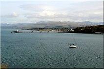 SH5873 : Menai Strait with Bangor Pier by Christine Matthews