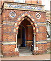 SS7597 : Ornate entrance doorway, Neath Constitutional Club by Jaggery