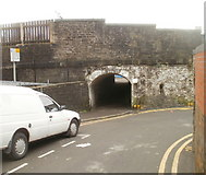 SS7597 : Subway under the railway, Neath by Jaggery