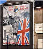 "J3574 : HMS ""Belfast"" mural, Belfast by Albert Bridge"