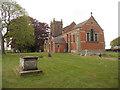 SJ4417 : Fitz - church and churchyard by Row17