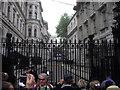 TQ3079 : Railings at Downing Street by PAUL FARMER