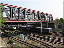 TQ2282 : First Great Western trains near Old Oak Common by Stephen Craven