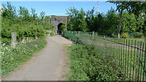 SJ8487 : Railway underpass leading to Foxland Road by Geoff Royle