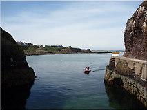 NT6779 : Coastal East Lothian : Entering Victoria Harbour, Dunbar by Richard West